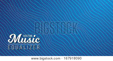Illustration of Music Equalizer Digital Glitch Effect. Distorted Sound Waves. Music Audio Signal Frequency Noise