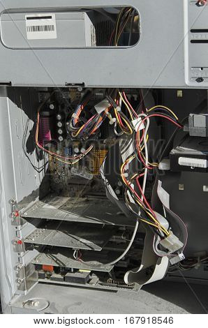 View of the components of a computer