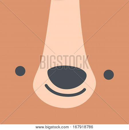 teddy bear face cute cartoon head child design vector stock