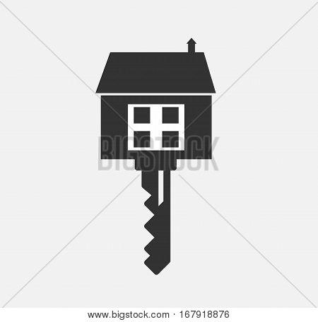 Key house logo building company icon design symbol isolated vector stock
