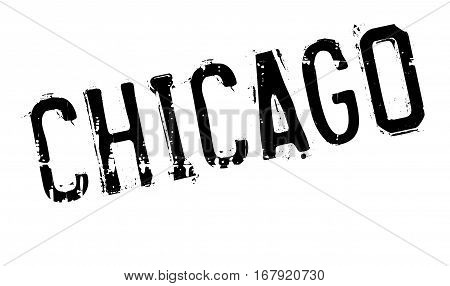 Chicago rubber stamp. Grunge design with dust scratches. Effects can be easily removed for a clean, crisp look. Color is easily changed.