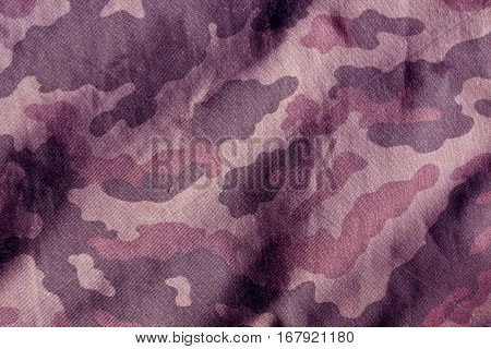 Weathered Camouflage Cloth Texture.