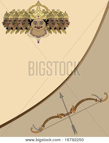 Ravana with bow - arrow