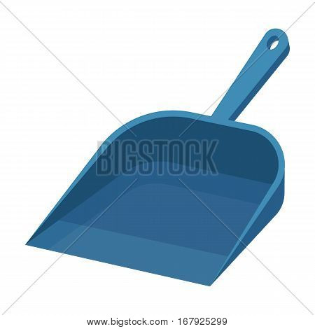 Dustpan icon in cartoon design isolated on white background. Cleaning symbol stock vector illustration.