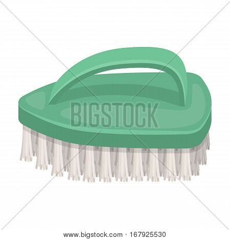 Cleaning brush icon in cartoon design isolated on white background. Cleaning symbol stock vector illustration.
