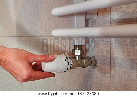 hand make temperature regulation on heated towel rail