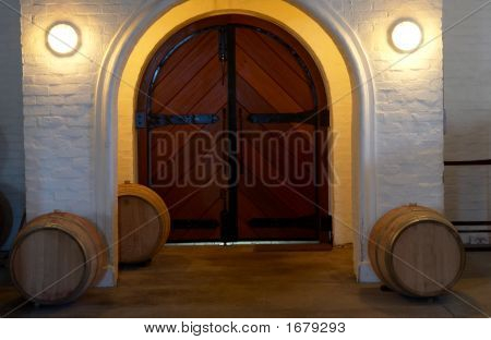Entrance Of The Wine Cellar In Franschhoek