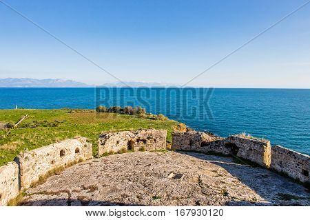 endless sea view from the walls of Koroni fortress, Peloponnese