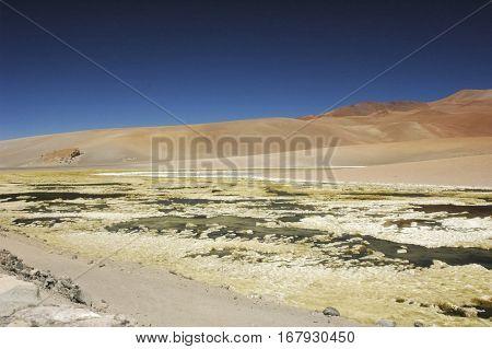 Lovely landscape in the desert of Atacama