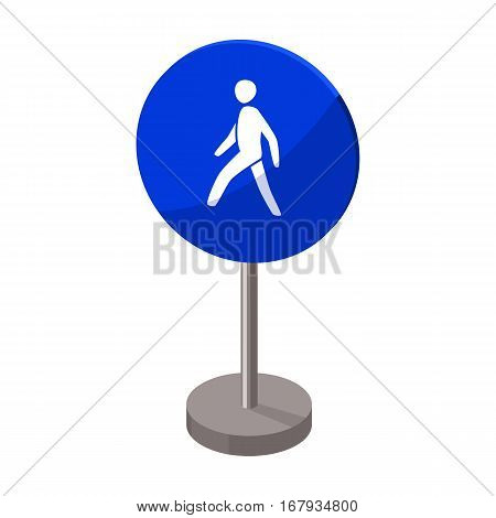 Mandatory road signs icon in cartoon design isolated on white background. Road signs symbol stock vector illustration.