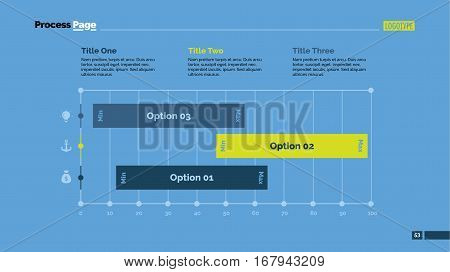 Three options percentage chart. Business data. Graph, diagram, design. Creative concept for infographic, templates, presentation, report. Can be used for topics like marketing, statistics, research.