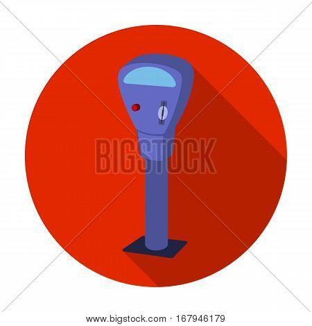 Parking meter icon in flat design isolated on white background. Parking zone symbol stock vector illustration.