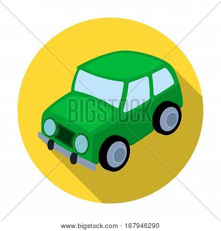 Car icon in flat design isolated on white background. Parking zone symbol stock vector illustration.