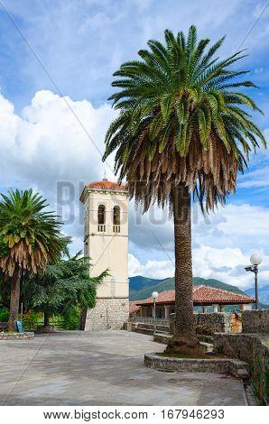 Belfry on Square Mitch Pavlovich in Herceg Novi Montenegro