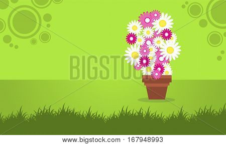 Illustration of background spring flower collection stock