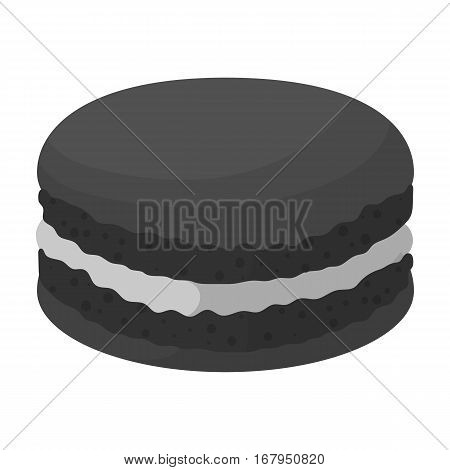 Chocolate biscuit icon in monochrome design isolated on white background. Chocolate desserts symbol stock vector illustration.