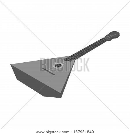 Balalaika icon in monochrome design isolated on white background. Musical instruments symbol stock vector illustration.