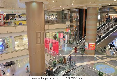SHANGHAI CHINA - NOVEMBER 1, 2016: Unidentified people visit Super Brand Mall. Super Brand Mall is one of the most prestigious shopping malls in East China.