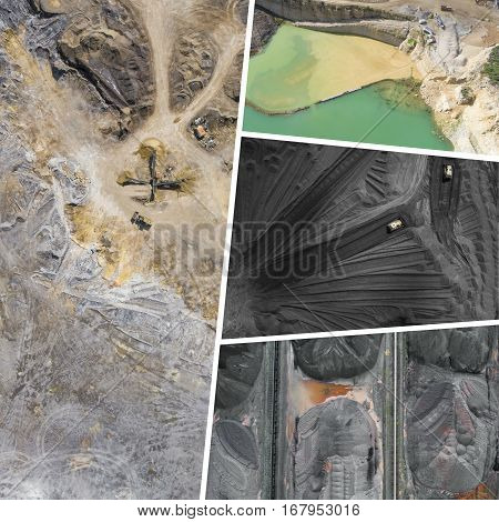 Collage Of Aerial Industrial Pictures - My Photos.
