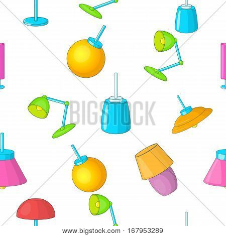 Lamp pattern. Cartoon illustration of lamp vector pattern for web