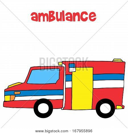 Collection of ambulance vector art illustration stock