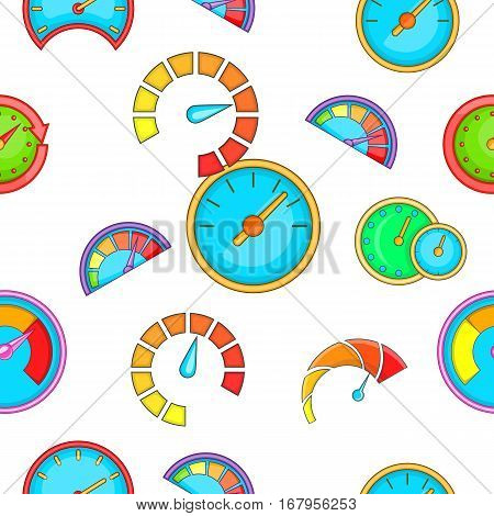 Speedometer pattern. Cartoon illustration of speedometer vector pattern for web
