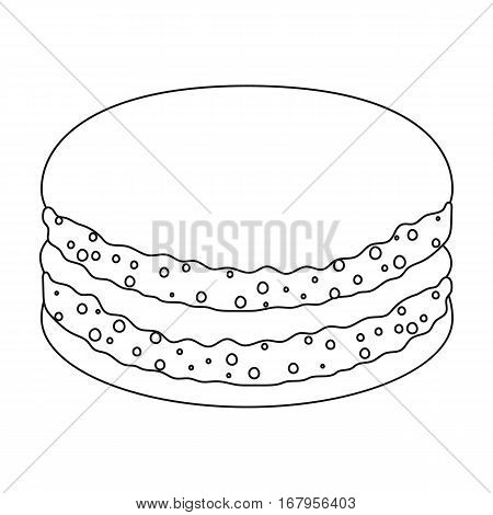 Chocolate biscuit icon in outline design isolated on white background. Chocolate desserts symbol stock vector illustration.