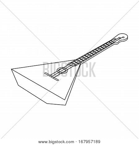 Balalaika icon in outline design isolated on white background. Musical instruments symbol stock vector illustration.