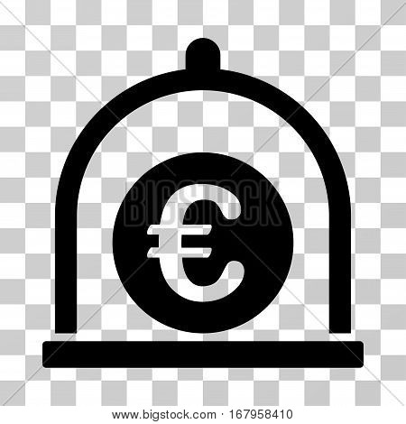 Euro Standard icon. Vector illustration style is flat iconic symbol, black color, transparent background. Designed for web and software interfaces.