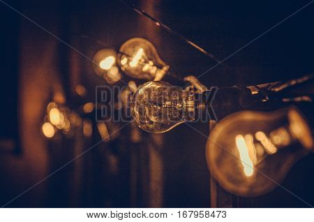 NiceL light bulb under stage brown colour