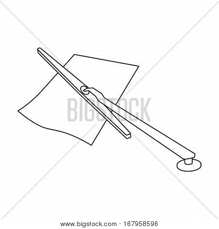 Parking fine icon in outline design isolated on white background. Parking zone symbol stock vector illustration.