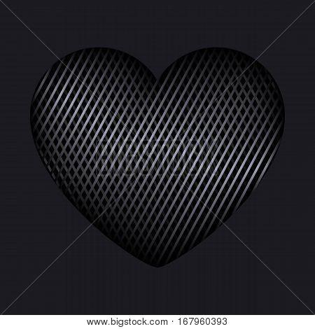 Heart Of Interweaving Lines Isolated Editable Vector Illustration