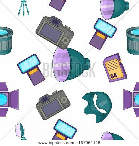 Photography pattern. Cartoon illustration of photography vector pattern for web