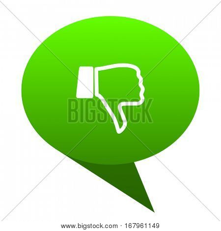 dislike green bubble web icon