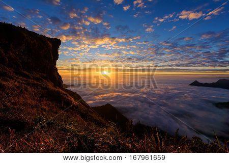 Sunrise View At Phu Chi Fa, Chiang Rai