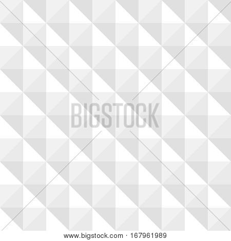 3D White Texture Abstract Background. Seamless pattern from tapered squares. Geometric vector illustration. Textured paper, neutral wallpaper, website backdrop, business card design element.