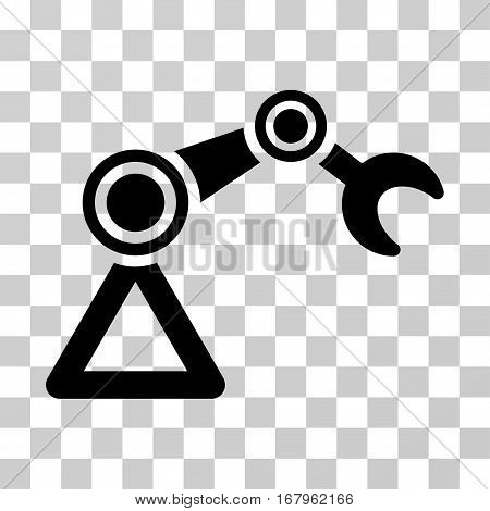 Manipulator Equipment icon. Vector illustration style is flat iconic symbol, black color, transparent background. Designed for web and software interfaces.