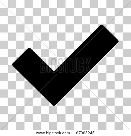 Ok Tick icon. Vector illustration style is flat iconic symbol, black color, transparent background. Designed for web and software interfaces.