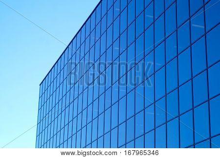 buildings glass window perspective skycraper blue office