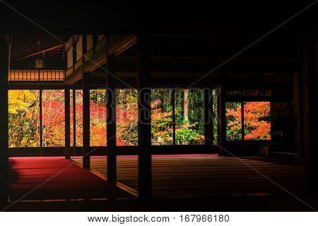 Kyoto, Tenju-an Temple At Autumn