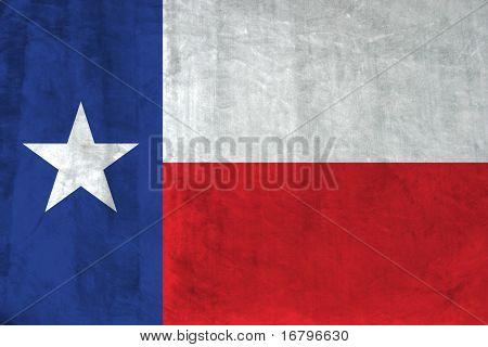 Grunge Texan flag