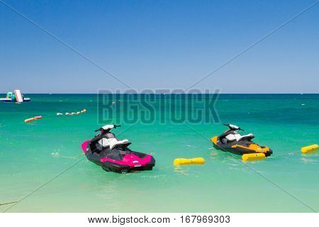 Water attractions the motorcycles of the sea