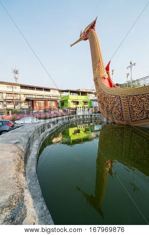 Suphannahong Boat(swan boat) WAT CHA LOR TEMPLE NONTHABURI Thailand