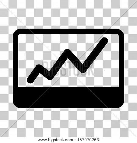Stock Market icon. Vector illustration style is flat iconic symbol, black color, transparent background. Designed for web and software interfaces.