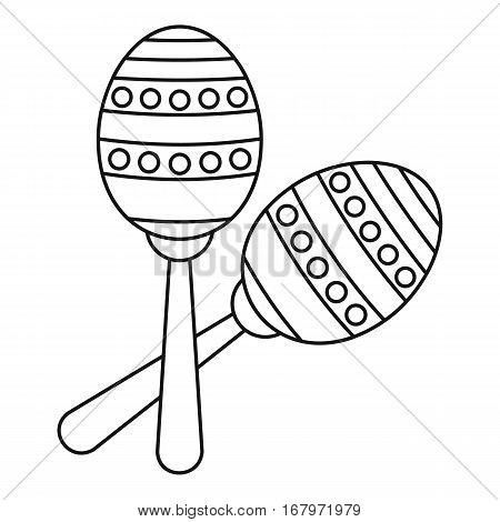 Two maracas icon. Outline illustration of two maracas vector icon for web