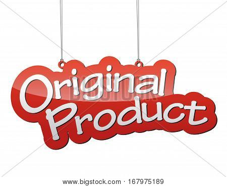This is red vector background original product