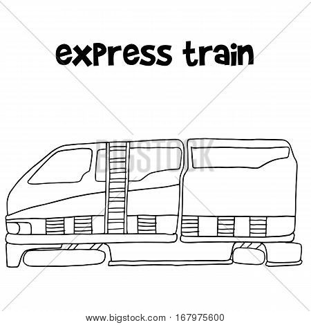 Express train of vector illustration collection stock