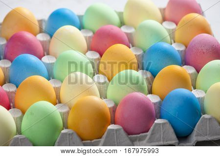 still life of Easter eggs