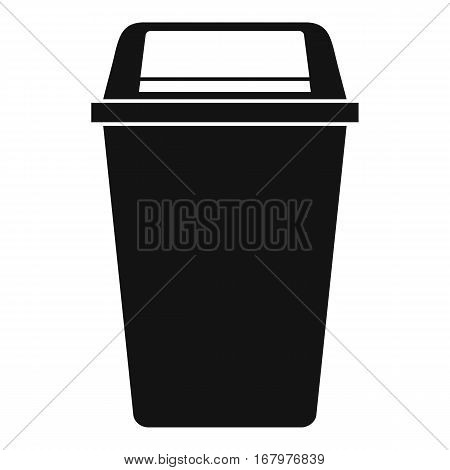 Plastic flip lid bin icon. Simple illustration of plastic flip lid bin vector icon for web