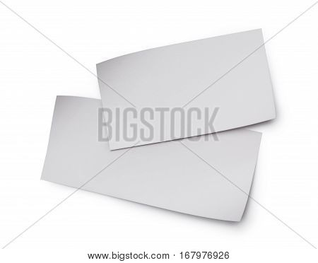 White Blank Sheets Of Paper